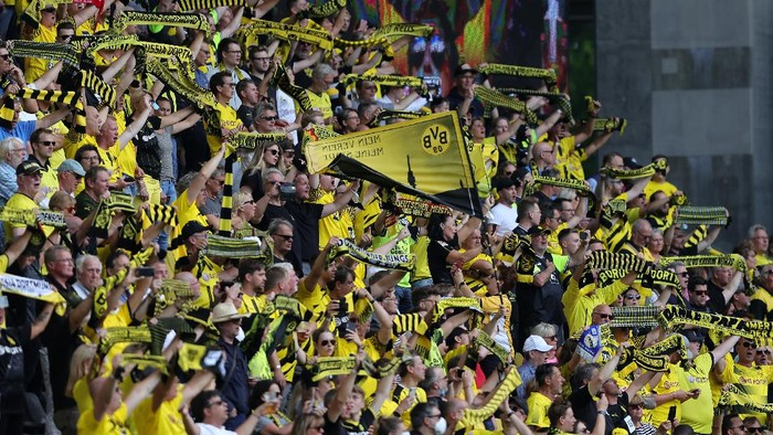 Ilustrasi fans Dortmund. (Foto: Getty Images,/Joosep Martinson)
